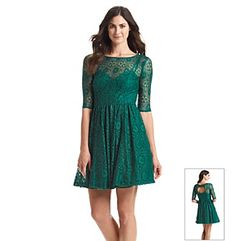 Plenty by Tracy Reese Lace Fit And Flare Dress