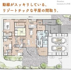 House Layout Plans, House Layouts, House Plans, Garage House, My House, Traditional Japanese House, My Dream Home, Architecture Design, Sweet Home