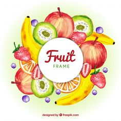 Discover thousands of copyright-free vectors. Graphic resources for personal and commercial use. Thousands of new files uploaded daily. Colorful Vegetables, Colorful Fruit, Save The Date Invitations, Floral Wedding Invitations, Tamarin Fruit, Fruit Logo, Fruit Packaging, Watercolor Fruit, Watermelon Carving