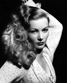 Veronica Lake, c.1952, MGM studio promo portrait.                                                                                                                                                                                 More