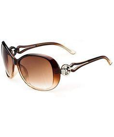 Womens Fashion Oval Shape UV400 Framed Sunglasses - Coffee_a - CF197WAA60E #Womens#Fashion#Oval#Shape#UV400#Framed#Sunglasses#Coffee#a#CF197WAA60E Oversized Round Sunglasses, Stylish Sunglasses, Sunglasses Shop, Retro Sunglasses, Sunglasses Online, Sunglasses Women, Fashion Women, Women's Fashion, Uv400 Sunglasses