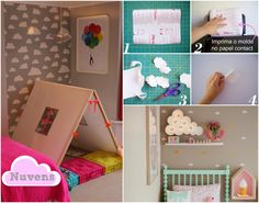 [Quarto do bebê] Casa Montada: Como Estampar a parede das crianças usando Papel Contact