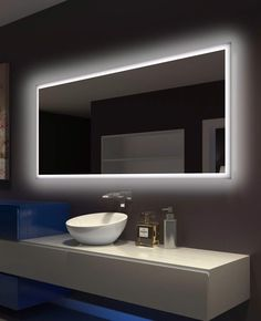 Backlit Bathroom Mirror Rectangle 70 X 32 In adds beauty and style to your vanity and bathroom. The exquisite design blends brilliantly with the function, offering a wonderful addition to any bathroom.