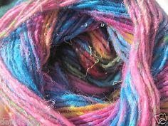 Noro Silk Garden Sock Yarn Silk Kids Mohair Wool Color #S87 Turquoise Pink 1 sk