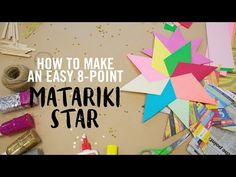 How to Make an Easy 8 Point Matariki Star - YouTube
