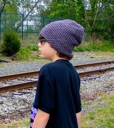 Crochet Slouchy Beanie Men boys Indie Skate Urban by Caheez, $20.00