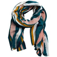 Multicolor Striped Scarf (2.375 RUB) ❤ liked on Polyvore featuring accessories, scarves, striped shawl, colorful shawl, striped scarves, colorful scarves and multi colored scarves
