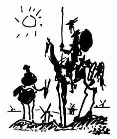 Don Quixote, 1955, Pablo Picasso