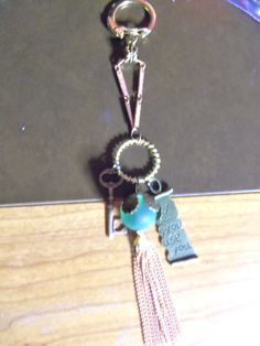 Tasseled Key Chain. $6.99, via Etsy.