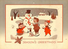 1956 Seasons Greetings Calendar Top