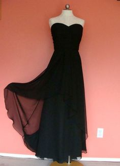 Designer Formal Gown Prom Dress Plus Size 22 2X Slimming Black Evening Ball Sexy
