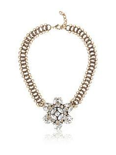 37d51971fc8e Leslie Danzis Unique Vintage Link Crystal Necklace Collar De Cristal