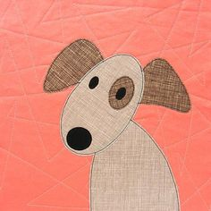 What you get Puppies! So many cute puppies! There are twelve puppy appliqué patterns which you can make into a crib, nap, or twin-sized quilt. Dog Quilts, Cute Quilts, Animal Quilts, Easy Quilts, Applique Templates, Applique Patterns, Quilt Patterns, Dog Template, Owl Templates