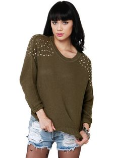 This sweater is so adorable and different.  It has a comfy edge to it.  Does that make sense?