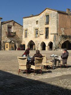 The bastide of Monpazier, Dordogne