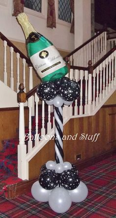 Champagne Bottle Balloon Floor Decoration