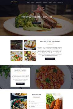 DELICIOUS - Restaurant PSD Template Restaurant Website Design, Restaurant Website Templates, Website Design Layout, Website Design Inspiration, Website Designs, Design Layouts, Web Layout, Website Ideas, Ui Inspiration