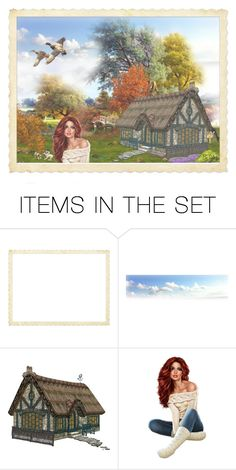 """"""""""" CABIN IN THE WOODS """" - Cottage Girl"""" by selene-cinzia ❤ liked on Polyvore featuring art"""