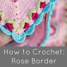 Crochet Edgings Design How to Crochet: Rose Border - Today I am going to show you how to create this gorgeous crochet Rose Border (as seen in my free Lydia Blanket pattern ). As most of you know, the roses were my favourite part of Sophie's . Crochet Boarders, Crochet Flower Patterns, Crochet Blanket Patterns, Crochet Designs, Crochet Flowers, Crochet Blankets, Crochet Afghans, Afghan Patterns, Stitch Patterns