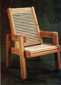 Cedar Patio Chair Plans