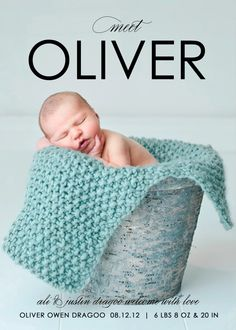"""baby boy birth announcement photo card - """"A Star is Born"""". $64.00, via Etsy. (Getting ideas for the fonts and layout)"""
