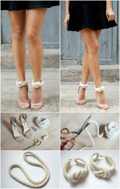 Interesting- DIY Heel Straps