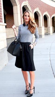 @Emily Jackson / Ivory Lane in the MILLY leather collar sweater #bloggersinmilly #millyny