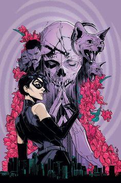 DC comics for January this is the cover for Catwoman drawn by Joelle Jones. Batman Und Catwoman, Batgirl, Batman Art, Superman, Comic Books Art, Comic Art, Book Art, Dark Horse Comics, Dragon Comic