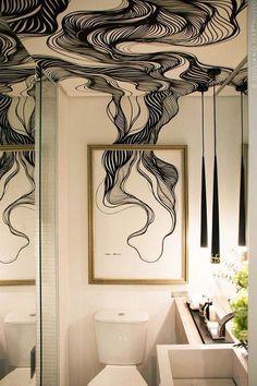 30 Tiny Bathroom Decor Ideas For Modern House Tiny House Design Bathroom Decor House ideas Modern Tiny Deco Design, Wall Design, House Design, Design Art, Ceiling Design, Paper Design, Design Homes, Interior Inspiration, Design Inspiration