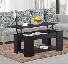 Topeakmart Lift up Top Coffee Table with Under Storage Shelf Modern Living Room Furniture Espresso *** Read more reviews of the product by visiting the link on the image.Note:It is affiliate link to Amazon.