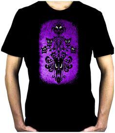 Haunted Mansion Wallpaper Ghoul Men's T-Shirt Alternative Clothing Halloween