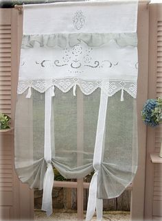 Easy And Cheap Useful Tips: Hanging Curtains In Apartment dark linen curtains.Dark Linen Curtains no sew curtains hem.No Sew Curtains For Nursery. Simple Curtains, Shabby Chic Kitchen, Cheap Curtains, Burlap Curtains, Diy Curtains, Colorful Curtains, Curtains With Blinds, Boho Curtains, Rustic Curtains