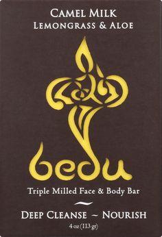 Bedu Face And Body Bar - Lemongrass And Aloe - Case Of 6 - 4 Oz.  #inspiredbeacon #love #organic  #BodyCare #BarSoap