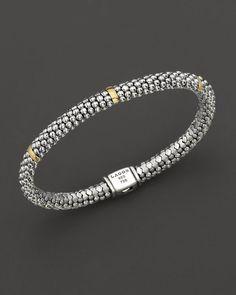 Lagos Petite Oval Rope Bracelet, 6mm