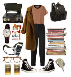 """""""30. photography major"""" by cherry-boy ❤ liked on Polyvore featuring Alexander McQueen, WithChic, Converse, GPO, ClaireChase, Frédérique Constant, Eos, Garrett Leight, Market and men's fashion"""