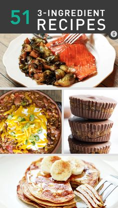 51 Easy and Healthy 3-Ingredient Meals #recipes #healthy