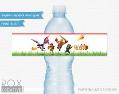 Clash of Clans Printable Water Labels Digital by RoxCreativeDesign