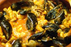 Fruits de mer, sautés, épicés, à l'ail, sauce bière, chicha