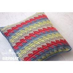 Yarnspirations is the spot to find countless free easy crochet patterns, including the Patons Seed Stitch Knit Pillow, Version 1 . Crochet Cushion Cover, Crochet Pillow Pattern, Knit Pillow, Crochet Cushions, Afghan Crochet Patterns, Crochet Stitches, Knitting Patterns, Pillow Patterns, Crochet Blankets