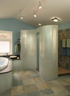 This is an alternate view of a previously pinned master bath.  Just love it.