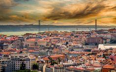 Lisbon Sunset - Sunset exposure taken from the highest viewpoint in Lisbon, Portugal.