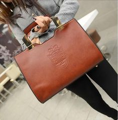 bd83f26e83 leather messenger bag Picture - More Detailed Picture about HOT ! Women  Handbag Iron Crown Shield High Quality Woman PU Leather Messenger Bags 2015  Ladies ...