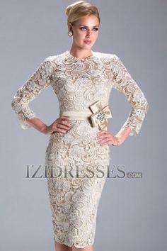 Sheath/Column High neck Lace Mother of the Bride - IZIDRESSES.COM at IZIDRESSES.com