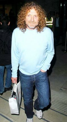 Robert Plant out shopping