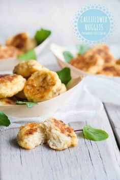 {NEW} CAULIFLOWER NUGGETS: Another creative and delicious way to serve up veggies to the kids. See post for more great veggie nugget ideas. #onehandedcooks