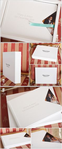 The Original Wedding designed by Hidden Kiss Studio, the choice of using white leather for the cover was made to provide a timeless solution  to the couple. The book is contein in a white touch and white linen #studiobox, two different materials to create a tactile contrast between touch material and the lienen to complement the leather. #graphistudio #theoriginalweddingbook #weddingphotography http://www.graphistudio.com/home
