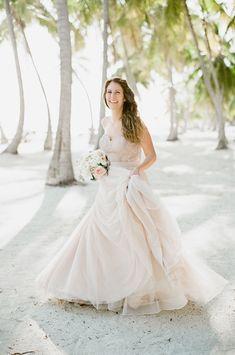 """Carina Corset"" and ""Ahsan Skirt"" by Watters for BHLDN | Romantic Islamorada Wedding | Natalie Watson Photography"