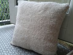Just finished this Tunisian crocheted pillow :)