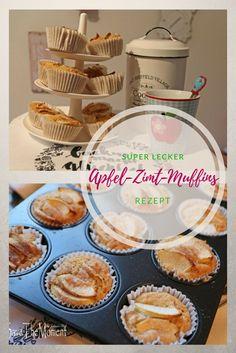 Apfel-Zimt-Muffins, das Rezept für alle die die Kombination von Apfel und Zimt mögen, perfekt für den Herbst  #Muffins #Apfel #Zimt