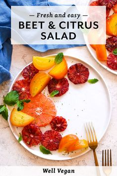 This Beet and Citrus Salad with Mint serves as a good reminder that salads don't have to be stuffed with leafy green vegetables.